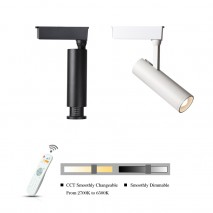25W CCT Adjustable Dimmable LED Track Light Beam Angle Changeable Track Spotlight For Museum Art Gallery Lighting